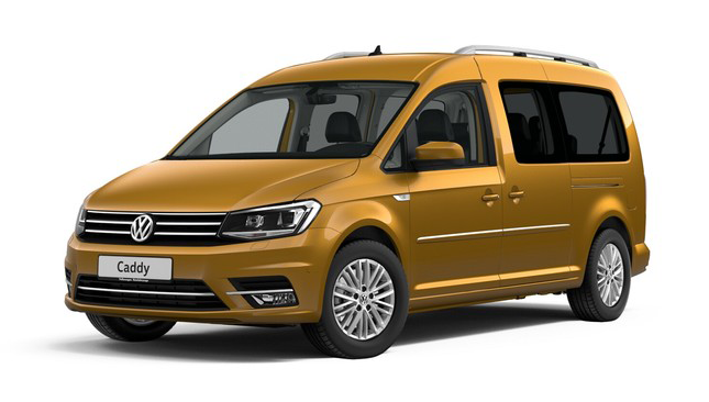 Volkswagen Caddy Alltrack, цвет Sandstorm Yellow Metallic