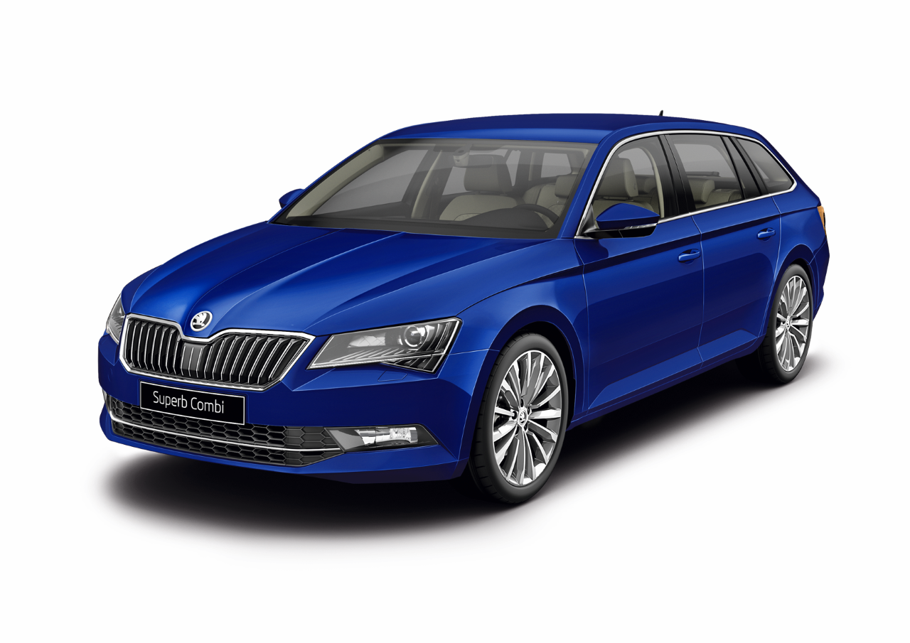 Skoda Superb COMBI Laurin & Klement, цвет Синий Energy Blue
